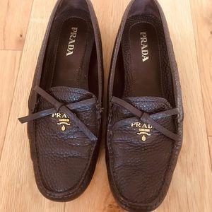 Brown Prada loafers